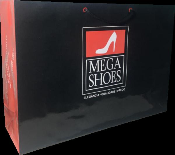 Sacola de papel Mega shoes