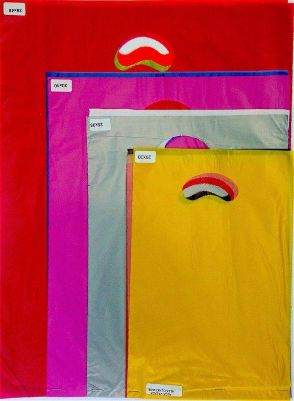 sacola alça vazada colorida 3