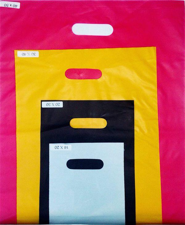 sacola alça vazada colorida 2