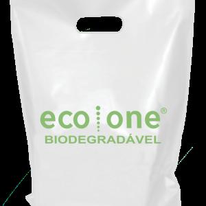 sacola biodegradável vazada
