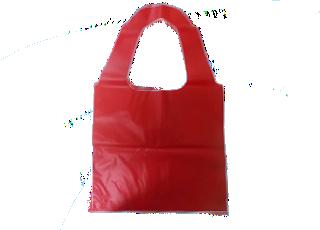 sacola alça cadeado vermelha