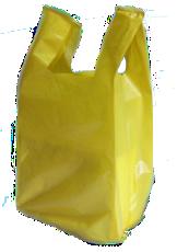sacola alça camiseta baixa densidade amarela