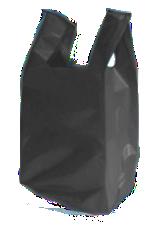 sacola alça camiseta baixa densidade preta