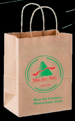 sacola de papel micro art