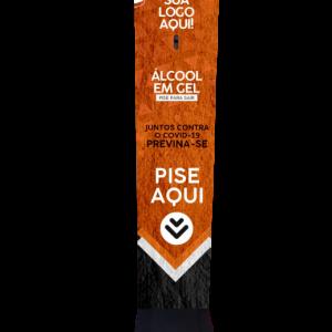 Totem de alcool em gel personalizado